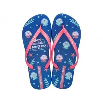 + MR WONDERFUL chanclas de dedo planas de mujer azul
