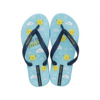 + MR WONDERFUL blue flat finger flip flops for girl