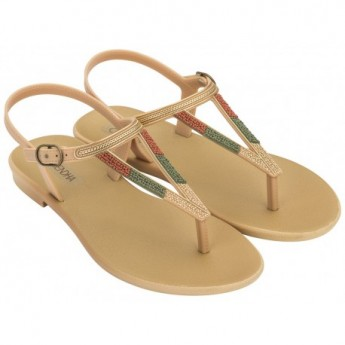 CACAU RUSTIC beige flat finger sandals for woman
