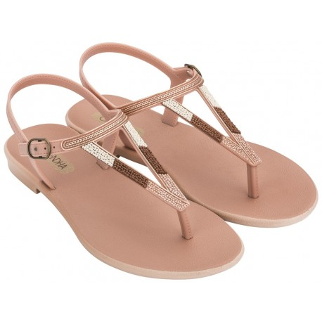 CACAU RUSTIC pink flat finger sandals for woman