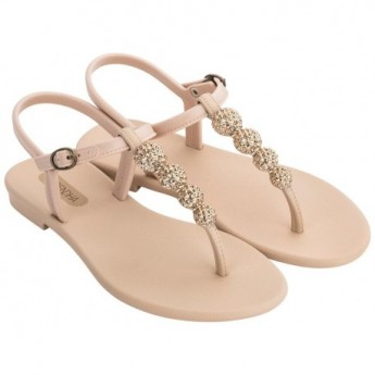 CACAU beige flat finger sandals for woman