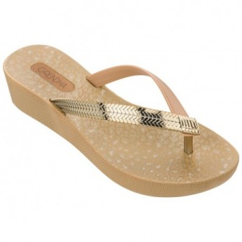 AMORA GLAM beige wedge finger sandals for woman