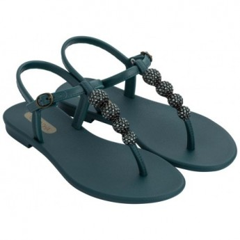 CACAU black flat finger sandals for woman