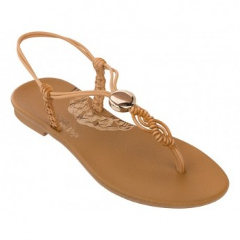 CACAU MAIS ROSA beige flat finger sandals for woman