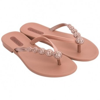 CACAU RAST pink flat finger sandals for woman