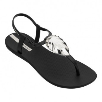 LEAF cristina pedroche black flat finger sandals for woman
