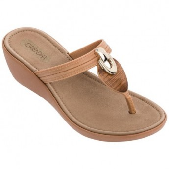 PITANGA beige wedge finger sandals for woman