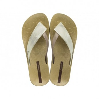 LUSH cristina pedroche gold flat finger sandals for woman