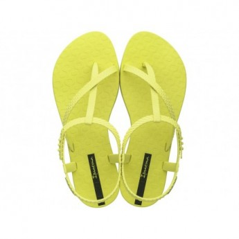 CLASS WISH cristina pedroche yellow flat finger sandals for woman