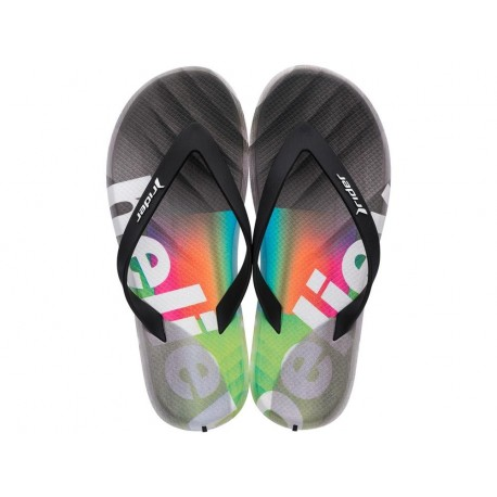 R1 ENERGY 360 grey urban print flat finger flip flops for man