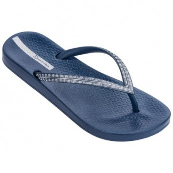 MESH IV blue flat finger flip flops for woman