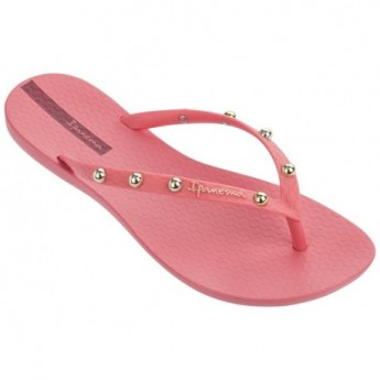 WAVE HITS II pink flat finger flip flops for woman
