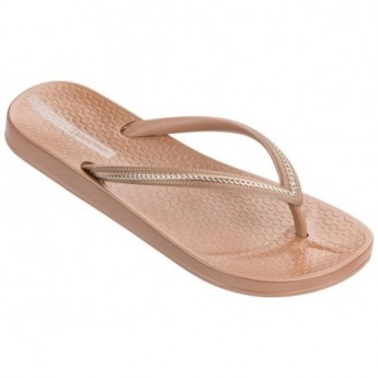 ANA METALLIC brown flat finger flip flops for woman