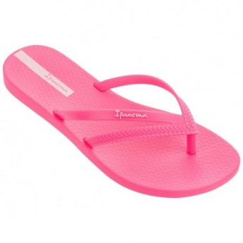 BOSSA pink flat open flip flops for woman