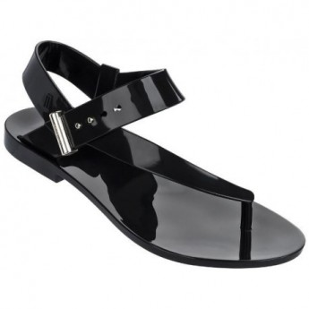 CHARLOTTE + JASON WU jason wu black flat finger sandals for woman