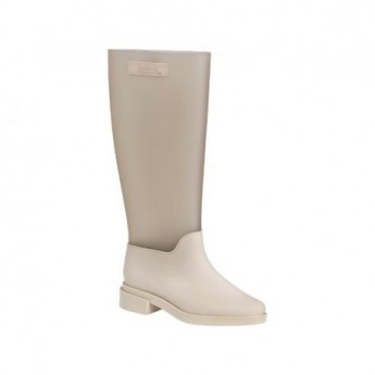 LONG BOOT beige with heel closed boots for woman