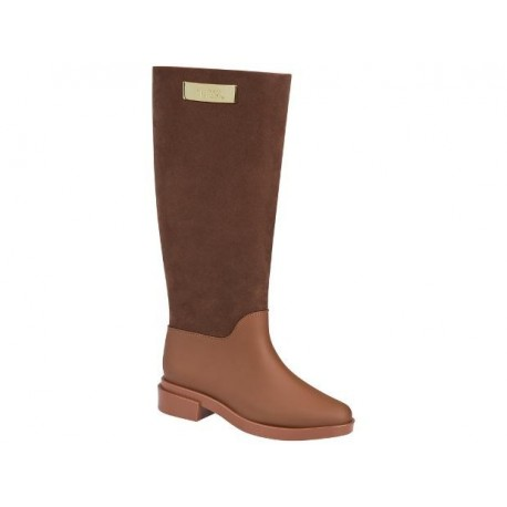 MELISSA LONG BOOT FLOCKED AD 51926 FLOCKED BROWN MARRON FLOCADO