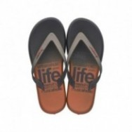 R1 ENERGY PLUS grey urban print flat finger flip flops for man