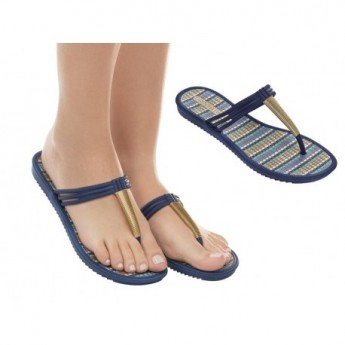 RIVIERA II blue flat finger sandals for woman