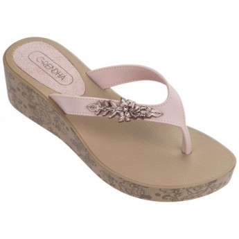 ACAI PLAT IV beige wedge finger sandals for woman