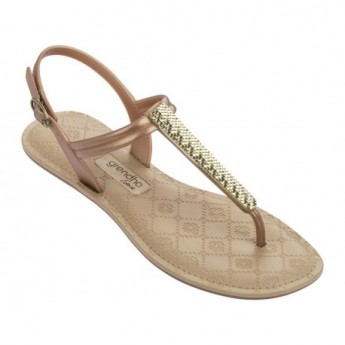 SENSE beige flat finger sandals for woman