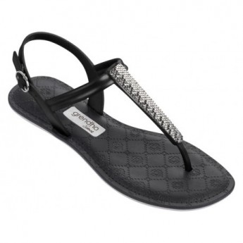 SENSE black flat finger sandals for woman