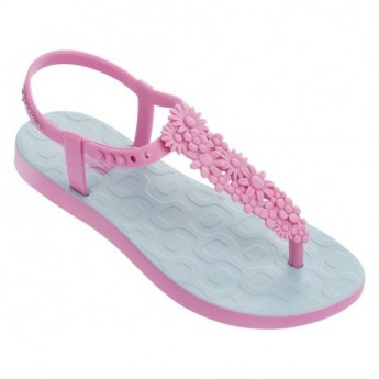 FLOWERS SAND pink flat finger sandals for girl
