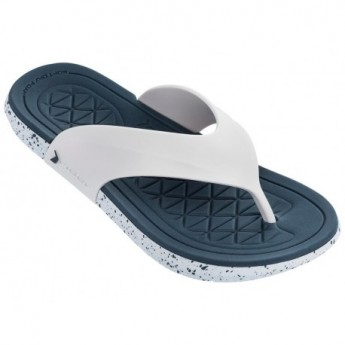 INFINITY II white flat finger flip flops for man