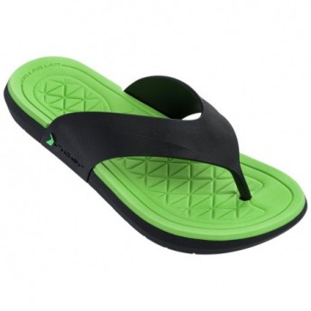 INFINITY II black flat finger flip flops for man