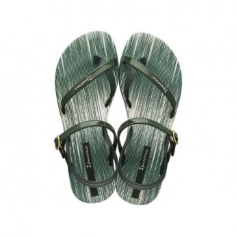 FASHION SAND VI F green flat finger sandals for woman