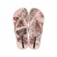 ANAT NATURE III F pink tropical print flat finger sandals for woman