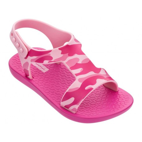 DREAMS II pink flat crab sandals for baby