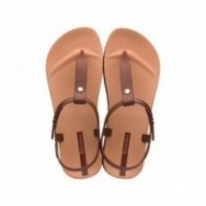 BOSSA SOFT brown flat finger sandals for woman