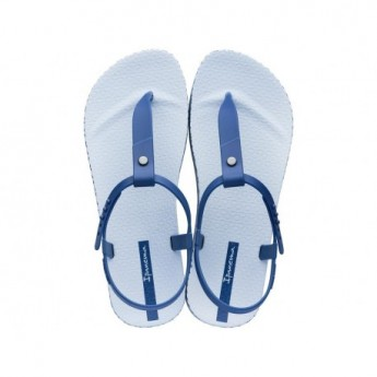 BOSSA SOFT blue flat finger sandals for woman