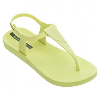 SENSATION yellow flat finger sandals for woman