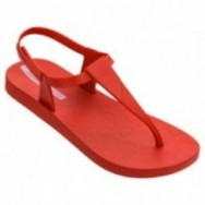 SENSATION red flat finger sandals for woman