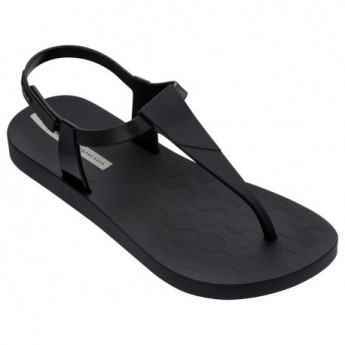 SENSATION black flat finger sandals for woman