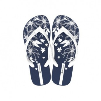 CLASS HAPPY blue floral print flat finger flip flops for woman