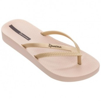 BOSSA SOFT IV beige wedge finger flip flops for woman