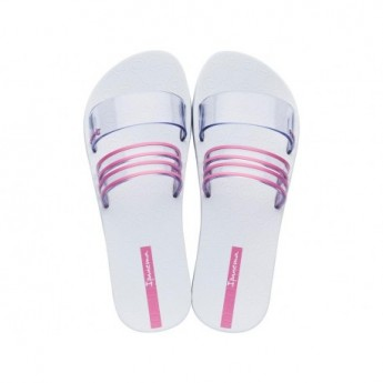 NEW white and transparent flat roman flip flops for woman