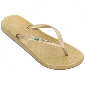 ANAT BRILLIANT III gold flat flip flops for woman