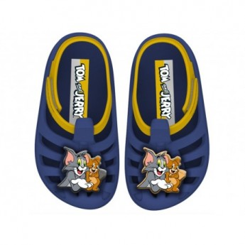 TOM E JERRY blue flat crab clogs for baby