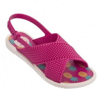 FASHION pink tropical print flat roman sandals for girl