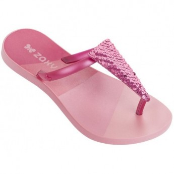 FRESH FREEDOM pink flat finger flip flops for girl