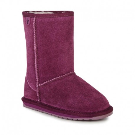 WALLABY LO purple flat closed boots for girl