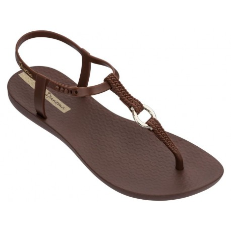 CHARM VII brown flat finger sandals for woman