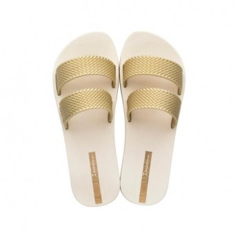 CITY beige flat shovel sandals for woman
