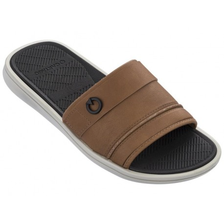 FIRENZE grey flat shovel sandals for man
