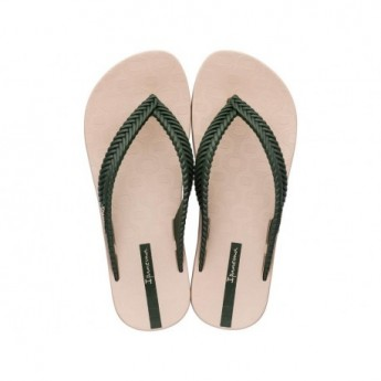 NATURE beige flat finger flip flops for woman