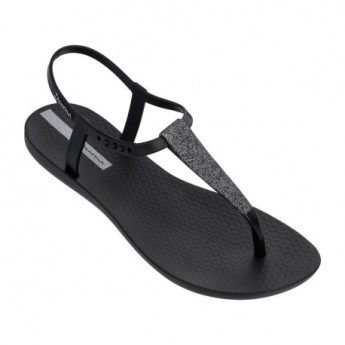 CLASS POP black flat finger sandals for woman